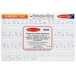 Handwriting Write A Mat 6Pk By Melissa & Doug