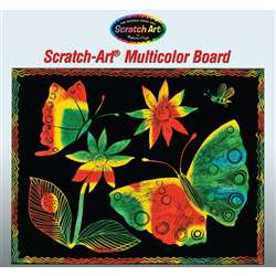 Scratch-Art Board 30 Sht Multi Color Soft-Scratch , LCI8051