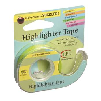 Removable Highlighter Tape Yellow By Lee Products