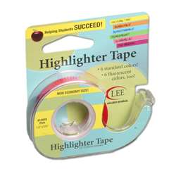 Removable Highlighter Tape Pink By Lee Products