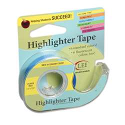 Removable Highlighter Tape Blue By Lee Products