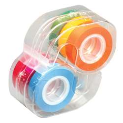Removable Highlighter Tape 1 Roll Each Of Six Fluorescent Colors By Lee Products