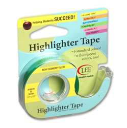 Removable Highlighter Tape Fluorscent Green By Lee Products