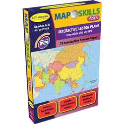 Map Skills Asia Interactive Whiteboard Software By Milliken Lorenz Educational Press