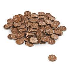 Play Money Pennies 100/Pk Plastic By Learning Resources