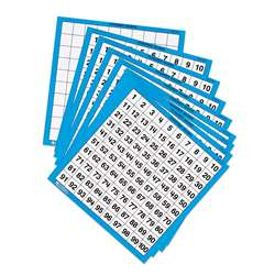 Laminated Hundreds Cards 10/Pk 11 X 11 By Learning Resources