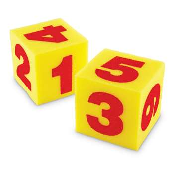 Giant Soft Cubes Numeral 2/Pk 5 Square By Learning Resources