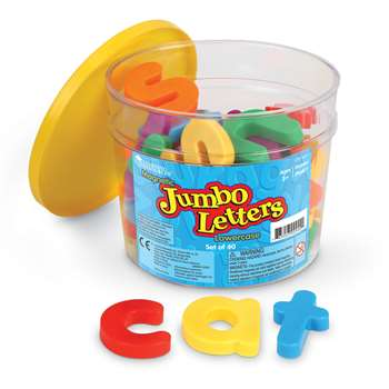 Jumbo Magnetic Letters 40/Pk Lowercase 2-1/2 Bucket By Learning Resources