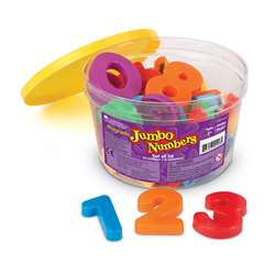 Jumbo Magnetic Numbers 36/Pk Operations 2-1/2 Bucket By Learning Resources
