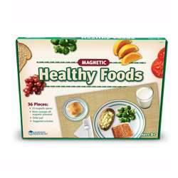 Magnetic Healthy Foods 34 Pieces W/ Placemat By Learning Resources