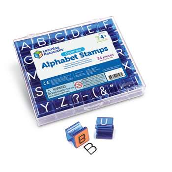 Uppercase Alphabet & Punctuation Stamps By Learning Resources