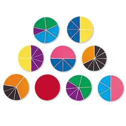 Delx Rainbow Fraction Circles 51/Pk By Learning Resources