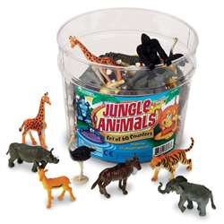 Jungle Animal Small Figurines (Set Of 60), LER0697