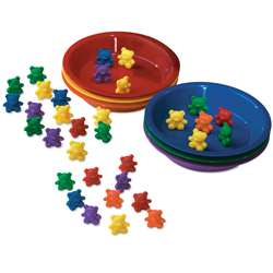 Baby Bear Sorting Set 102 Bears 6 Colors 6 Bowls By Learning Resources