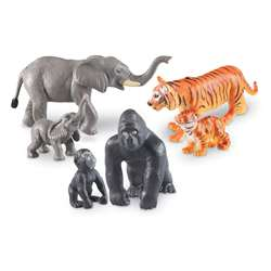 Jumbo Jungle Animals Mommas And Babies Figurines (, LER0839