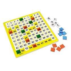 Hundreds Number Board 12 X 12 Plastic Double-Sided By Learning Resources