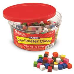 Centimeter Cubes 500-Pk 10 Colors In Storage Tub By Learning Resources