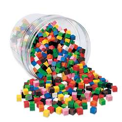Centimeter Cubes 1000-Pk 10 Colors In Storage Tub By Learning Resources