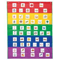 Rainbow Pocket Chart By Learning Resources
