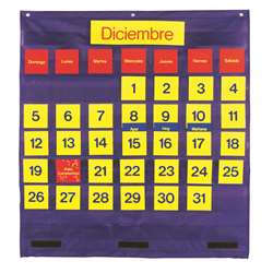 Bilingual Monthly Calendar Pocket Chart By Learning Resources