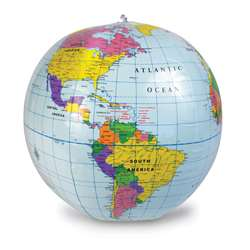"12"" Inflatable Globe By Learning Resources"