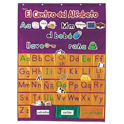Spanish Alphabet Pocket Chart By Learning Resources