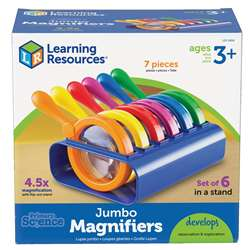 Primary Science Jumbo Magnifiers Set Of 6 In A Stand By Learning Resources