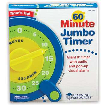 60 Minute Jumbo Timer By Learning Resources