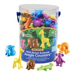 Shop Wild About Animals Jungle Counters - Ler3361 By Learning Resources
