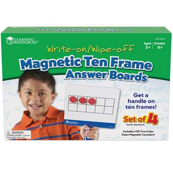 Magnetic Ten Frame Answer Boards By Learning Resources