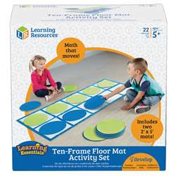Ten Frame Floor Mat Activity Set, LER6651