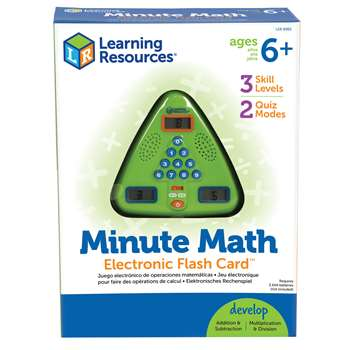 Minute Math Electronic Flash Card By Learning Resources
