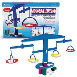 Four-Pan Algebra Balance 4-Pk 4 Plastic Pans Canisters Weights By Learning Resources