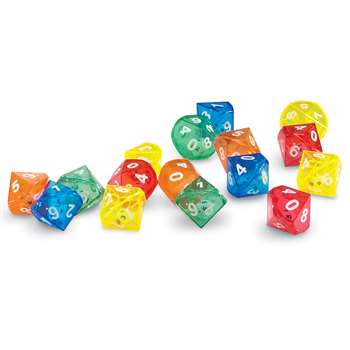 10 Sided Dice In Dice By Learning Resources