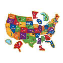 Magnetic Us Map Puzzle, LER7714