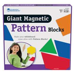 Giant Magnetic Pattern Blocks Set Of 47 By Learning Resources