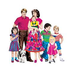 Caucasian Family Flannelboard Set Pre-Cut By Little Folks Visuals