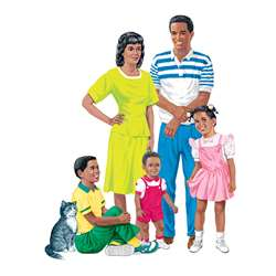 African-American Family Pre-Cut Flannelboard Set By Little Folks Visuals