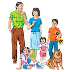 Asian Family Flannelboard Set Pre- By Little Folks Visuals