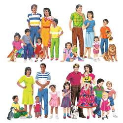 Multicultural Families 4-Set Flannelboard Set Pre-Cut By Little Folks Visuals