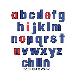 Lower Case Letters Flannelboard Set By Little Folks Visuals