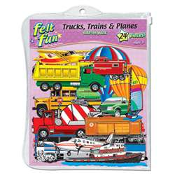 Trains Trucks & Planes Flannelboard By Little Folks Visuals