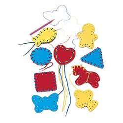 Lacing Shapes 9/Pk Ages 3-6 By Lauri