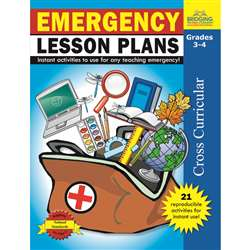 Emergency Lesson Plans Gr 3-4 By Milliken Lorenz Educational Press