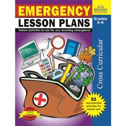 Emergency Lesson Plans Gr 5-6 By Milliken Lorenz Educational Press