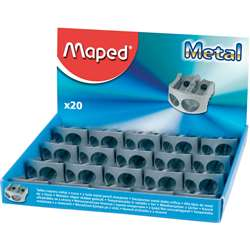 2 Hole Metal Sharpenr Display Of 20, MAP506700
