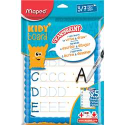 Transparent Dry Erase Board 8 Pc Kt Kidy Board Unb, MAP583710