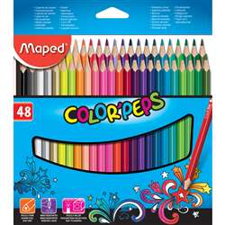 Triangular Colored Pencils 48Pk Colorpeps, MAP832048ZV