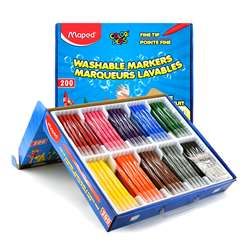 Washable Markers School 200/Pk Color Peps Jungle F, MAP845470
