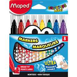 Broad Tip Markers 8 Color Set Ultra Washable, MAP846048
